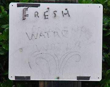 Fresh water sign