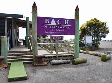 Bach on Breakwater restaurant entrance
