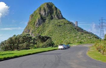Paritutu Rock and parking area