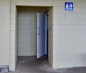 Toilets available underneath the club rooms