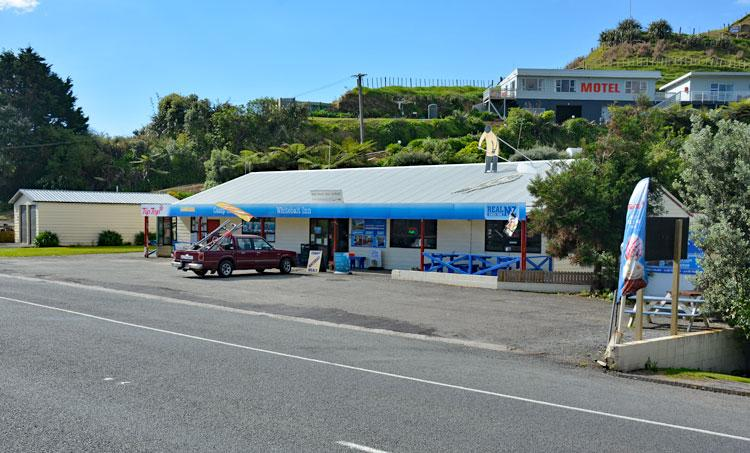 The Whitebait Inn and Campsite entrance