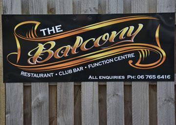 Sign for the Balcony Restaurant