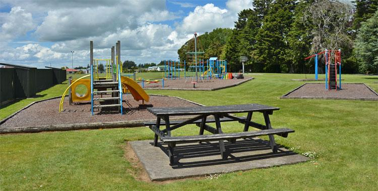 Children's playground at the entrance to Victoria Park