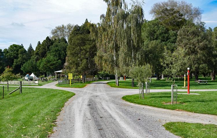 Entrance to the campsite
