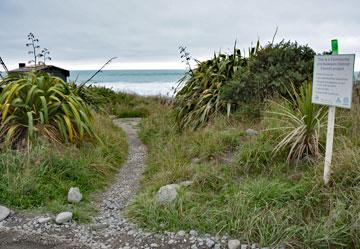 Path providing access to the beach