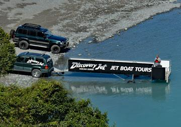 Discovery Jet offers jet boat tours from the lower carpark.