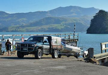 The boat ramp was well used by locals going fishing