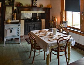 Homestead kitchen and dining room