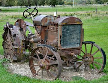 Early tractor now at rest