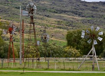 Windmills used for pumping water