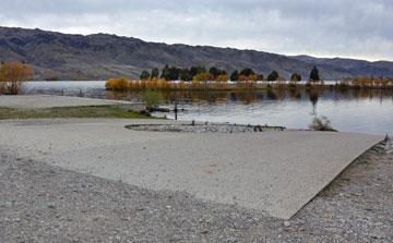 Boat ramp for access to the lake