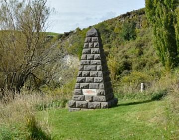 The monument to the miners who died