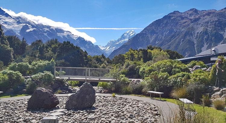 View of Mt Cook from the cafe