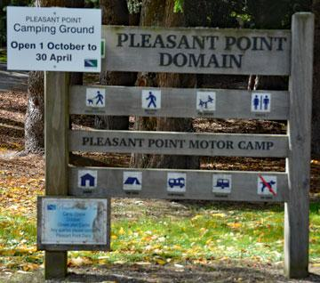 Pleasant Point Domain sign