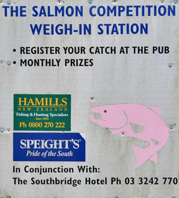 Salmon competition sign
