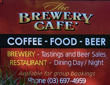 The Brewery Cafe sign