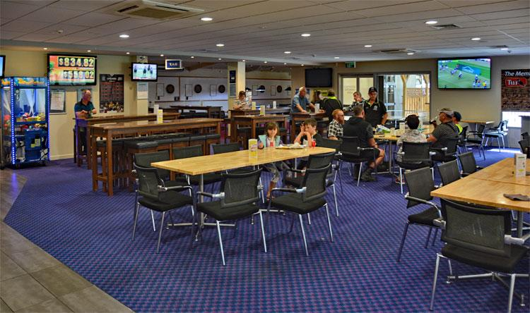Timaru club dining area