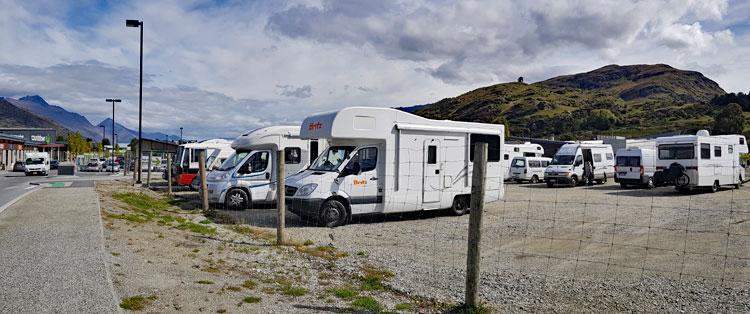 Campervan parking area