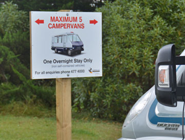 Campervan sign