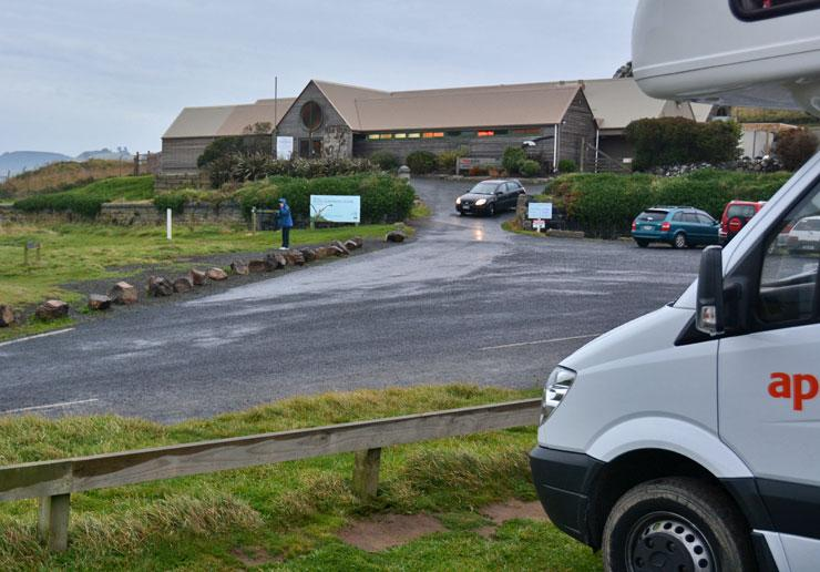 The Royal Albatross Centre from the carpark