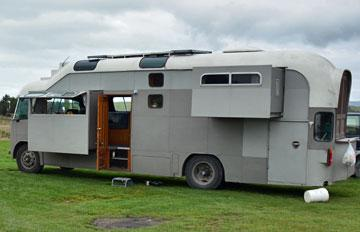 Converted Bedford motorhome at All Day Beach