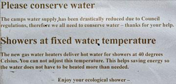 Eco shower notice