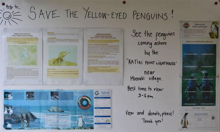 Save the penguins sign