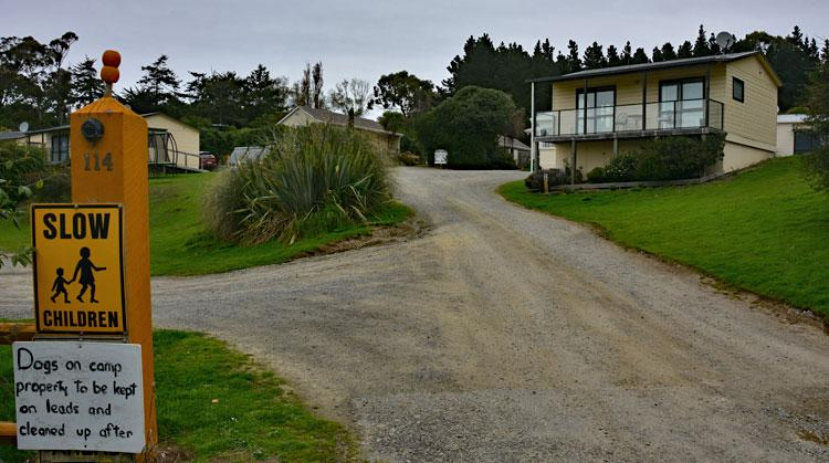 Entrance to the Moeraki Village Holiday Park