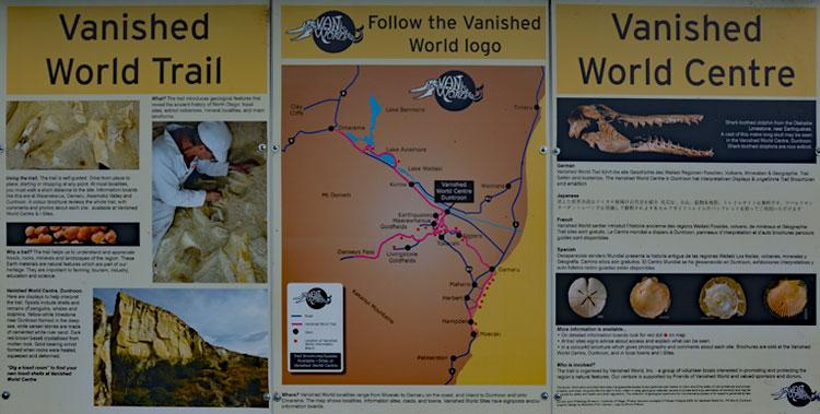 Vanished Word Trail sign