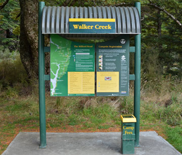 The DOC sign at Walker Creek