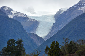 View of Fox Glacier in the distance