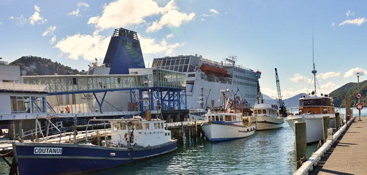 The Interislander ferry getting ready to leave