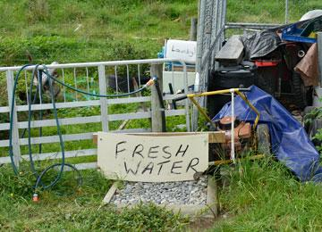 Fresh water available