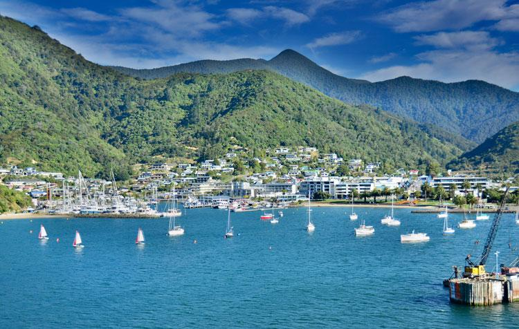 Picton Harbour - arriving on the ferry from Wellington