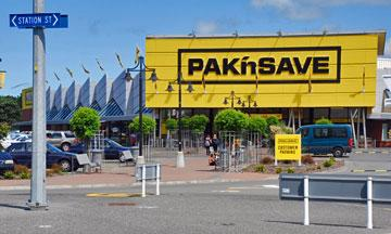 Pak n Save supermarket across the road from Countdown