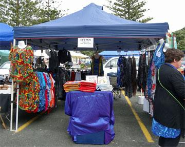 Market day stall on Sunday - hand made clothes