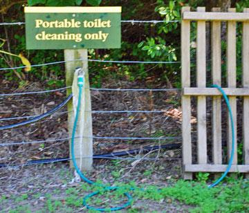 Water for cleaning portable toilets