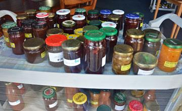 Local Preserves for sale in the cafe