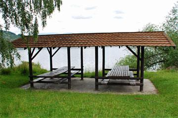 Shelter by the lake front