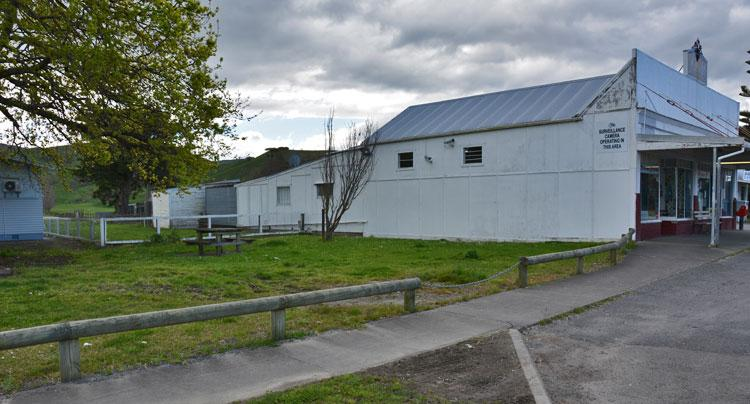 The reserve beside the Nuhaka General Store