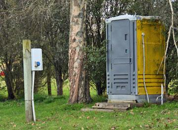 Portaloo and powered site parking