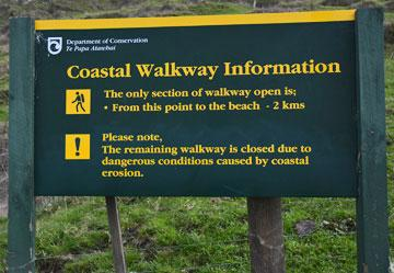 Coastal Walkway sign