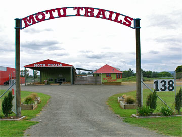Entrace to the Motu Trails