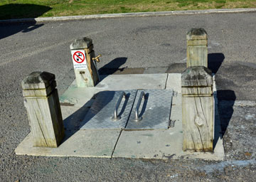 Public dump station near the toilet facilities