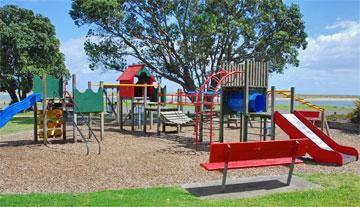 Children's playground in the reserve
