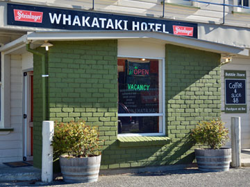 Entrance to the Whakataki Hotel