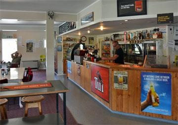 Inside the cafe and bar