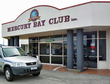 Entrance to the Mercury Bay Club
