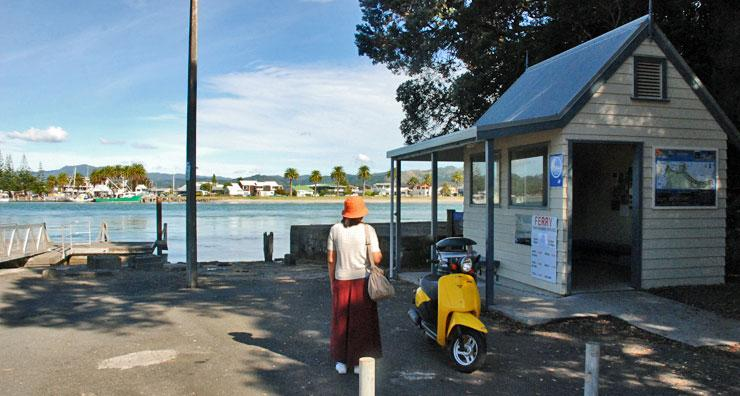 Waiting for the ferry at Ferry Landing in Whitianga