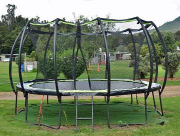 A trampoline for the kids